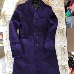 Purple J. Crew pea coat